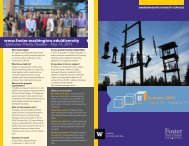 (B²) brochure - University of Washington Foster School of Business