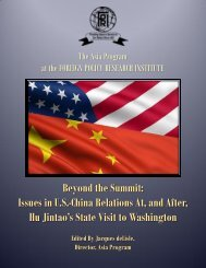 Beyond The Summit - Foreign Policy Research Institute