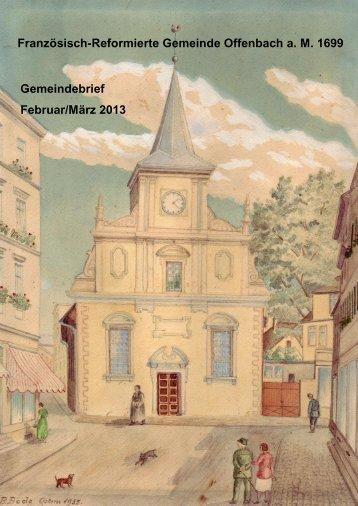 Gemeindebrief Februar/März 2013 - Franzoesisch-Reformierte ...