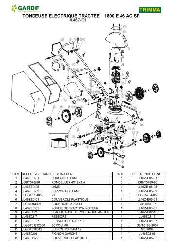 Tondeuse 56 cm sp 4 en 1 jl56z c3 moteur subaru - Tondeuse electrique auchan ...