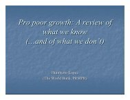 Pro poor growth: A review of what we know (…and of ... - Fiscal Reform