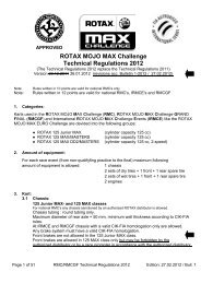 ROTAX MOJO MAX Challenge Technical Regulations ... - The FMSCI