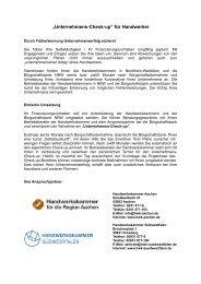 Flyercheck-up - Bürgschaftsbank NRW