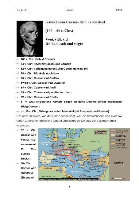 Gaius Julius Caesar Sein Lebenslauf 100 44 V Chr Veni Fri Tic