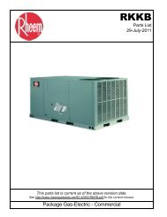 Package Gas-Electric - Commercial - Fox Appliance Parts of Macon ...