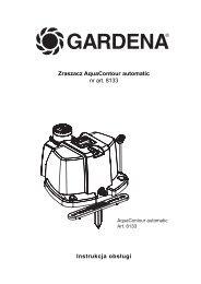 OM, Gardena, Zraszacz AquaContour automatic, Art 08133-20, 2010 ...