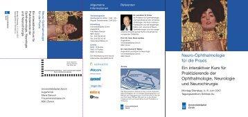 Neuro-Ophthalmologie für die Praxis Ein interaktiver Kurs für ...