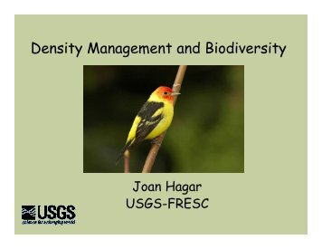 Density Management and Biodiversity