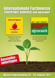 Aussteller-Mappe - Fruchtwelt Bodensee