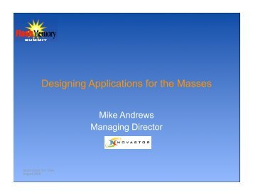 Designing Applications for the Masses - Flash Memory Summit