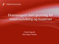 Ekstremsport som grunnlag for reiselivsutvikling og ... - Fjord Norway