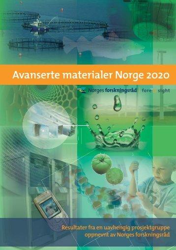 Avanserte materialer Norge 2020 - Norges forskningsråd