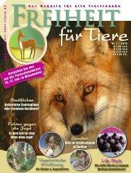 Titel und Inhalt - Magazin Freiheit für Tiere