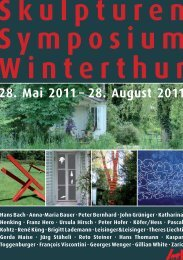Skulpturen Symposium Winterthur - Galerie Weiertal