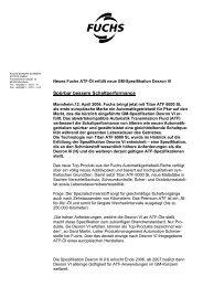 Neu entwickeltes ATF für neue Norm DEXRON VI - fuchs europe ...