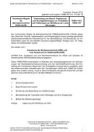 TRBS 3151 / TRGS 751 Vermeidung von Brand-, Explosions- und ...