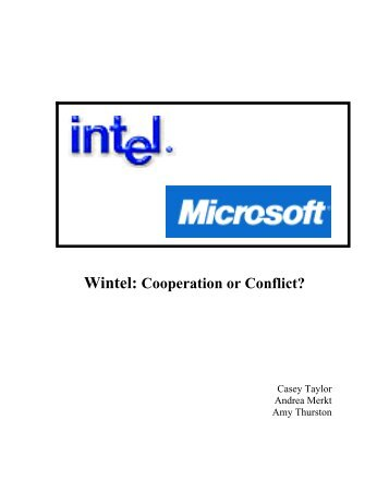 wintel cooperation or conflict Wintel (a): cooperation or conflict, spanish version author(s): david b yoffie, ramon casadesus-masanell, and sasha mattu doi: 101225/706s45.
