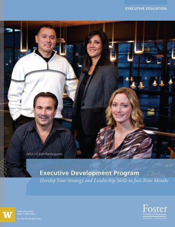 Executive Development Program - University of Washington Foster ...