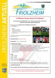 Blättle KW 21 - Friolzheim