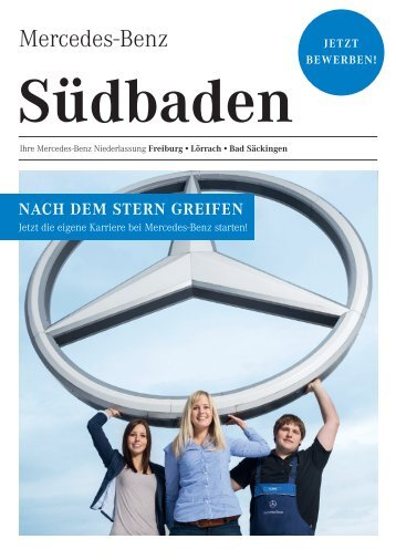"""Flyer """"Karriere bei Mercedes-Benz in Südbaden"""" (pdf)"""