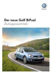Der neue Golf BiFuel Autogasantrieb - Tauwald Automobile