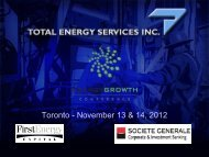 Total Energy Services Inc. - FirstEnergy Capital Corp.
