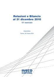 Relazioni e Bilancio al 31 dicembre 2010