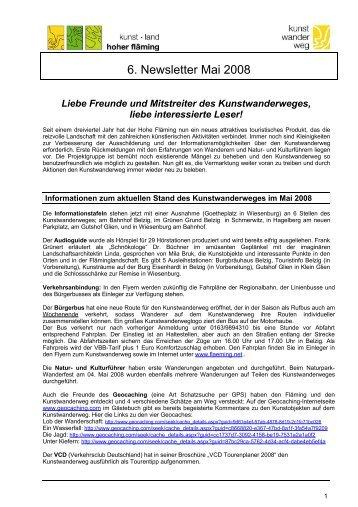 6. Newsletter Mai 2008 - Naturpark Hoher Fläming