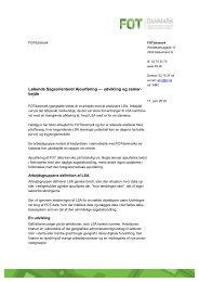 Løbende Sagsorienteret Ajourføring — udvikling og ... - FOTdanmark
