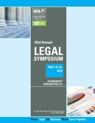 43rd Annual Legal - International Franchise Association