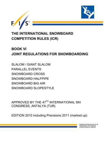 ICR 11 Snowboard marked up - FIS