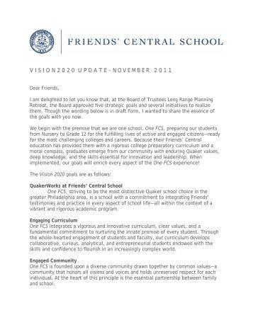 November 2011 - Friends' Central School