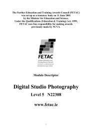 Digital Studio Photography - Fetac