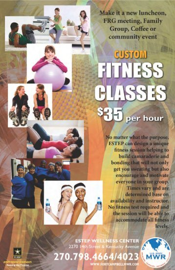 Custom Fitness Classes - Fort Campbell MWR