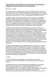 Stellungnahme von Bremer Fachärzten zur Kaiserschnittrate