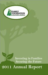 2011 Annual Report - Family and Youth Counseling Agency