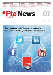 Fte maximal is in the social network: Facebook, Twitter, Linkedin and ...