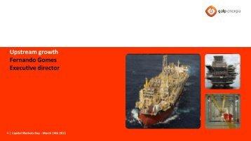 Upstream growth - Galp Energia