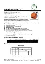 Ölbrenner Type: SPARK 6, 6A2 - GARVENS VESTA GmbH