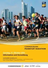 Information und Anmeldung - BMW Frankfurt Marathon