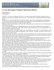 (17-year-old reopens Truman\222s Main Street Market) - the city of ...