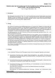 Richtlinie über die Voraussetzungen für die Ausstellung eines ...