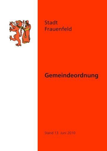 Gemeindeordnung - Stadt Frauenfeld