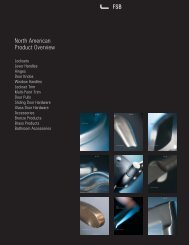 North American Product Overview PDF, 1.8 mb - FSB