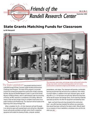 Friends of the Randell Research Center, Vol.4, No.3 - Florida ...