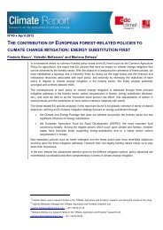 The contribution of European forest to climate change ... - CDC Climat