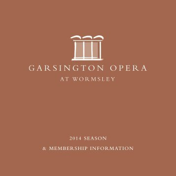 download introduction to membership form - Garsington Opera