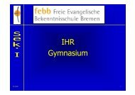 IHR Gymnasium - Freie Evangelische Bekenntnisschule