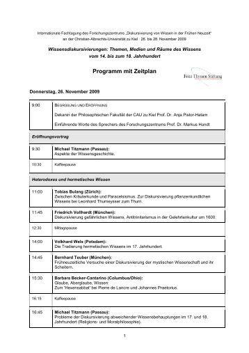 Tagungsprogramm (PDF) - Diskursivierung von Wissen in der ...
