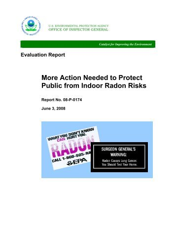 Action Needed to Protect Public from Indoor Radon Risks